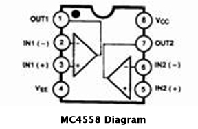 741 op amp wiring diagram with Ic 4558 Circuit Diagram on Audio Vu Level Meter Circuit With Lm324 furthermore Ic 741 Pin Diagram in addition Current Source Schematic further Integrator Circuit Using Op   Design further Audio  lificateurs.