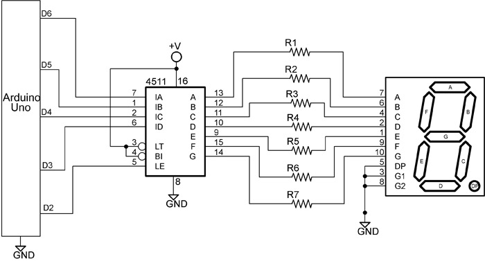 [DIAGRAM_34OR]  Working with Seven Segment Displays | 7 Segment Display Wiring Diagram |  | Jameco Electronics
