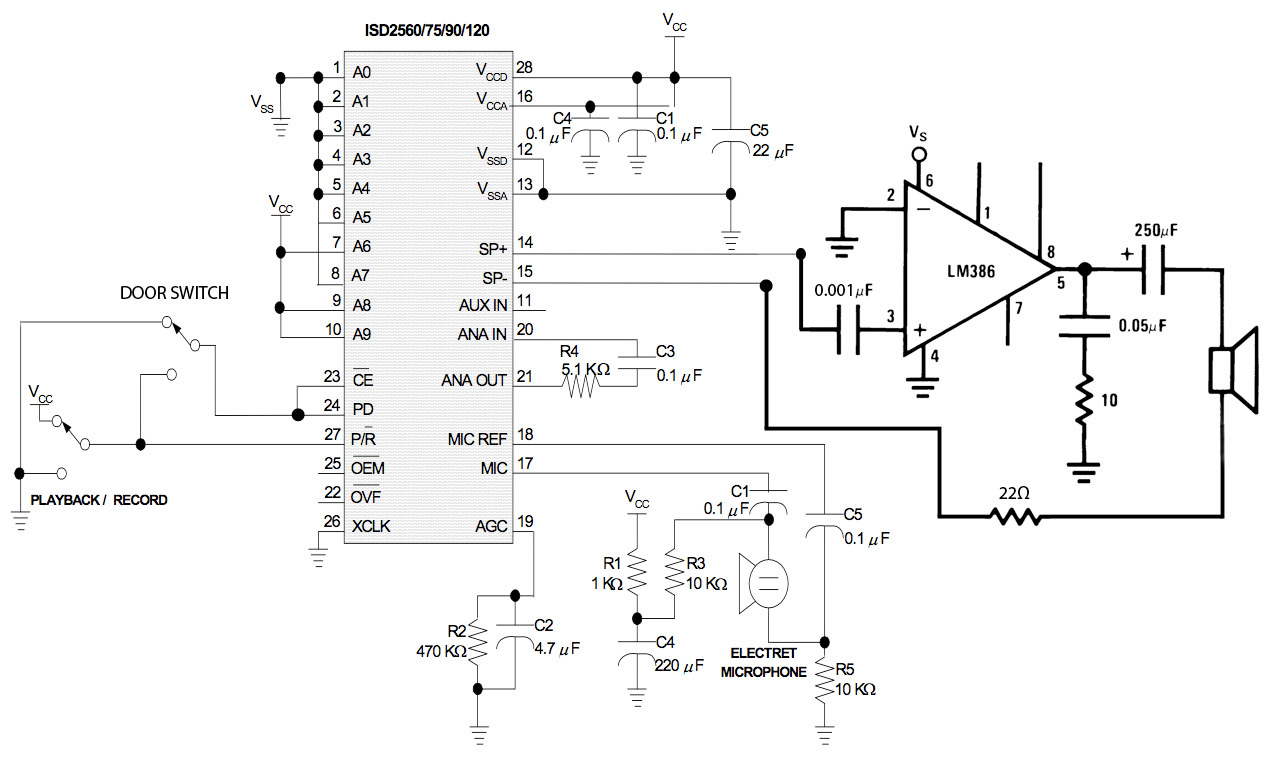 Diy Door Chime Figure 1 Circuit Schematics The For Activated Accompaniment Click Here Full Size Image