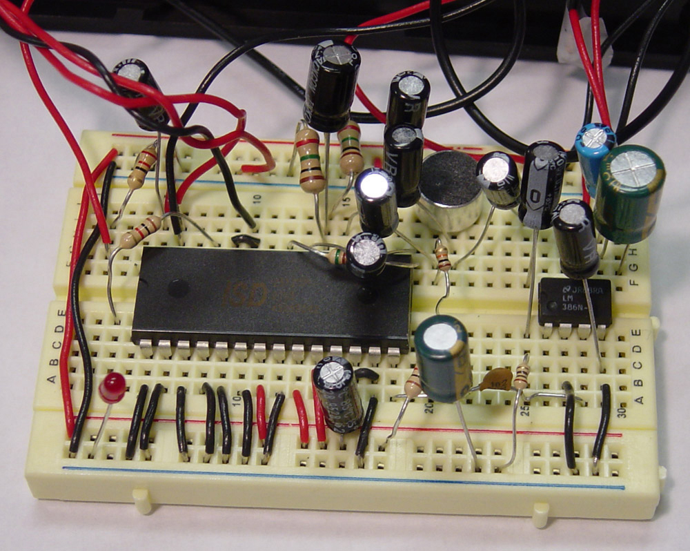 Diy Door Chime Voice Recorder And Playback Circuit Plus The Top Pins Of Chip Have Simpler Things To Wire Like Power Mode Select