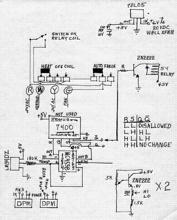 thermostat schematic explanation