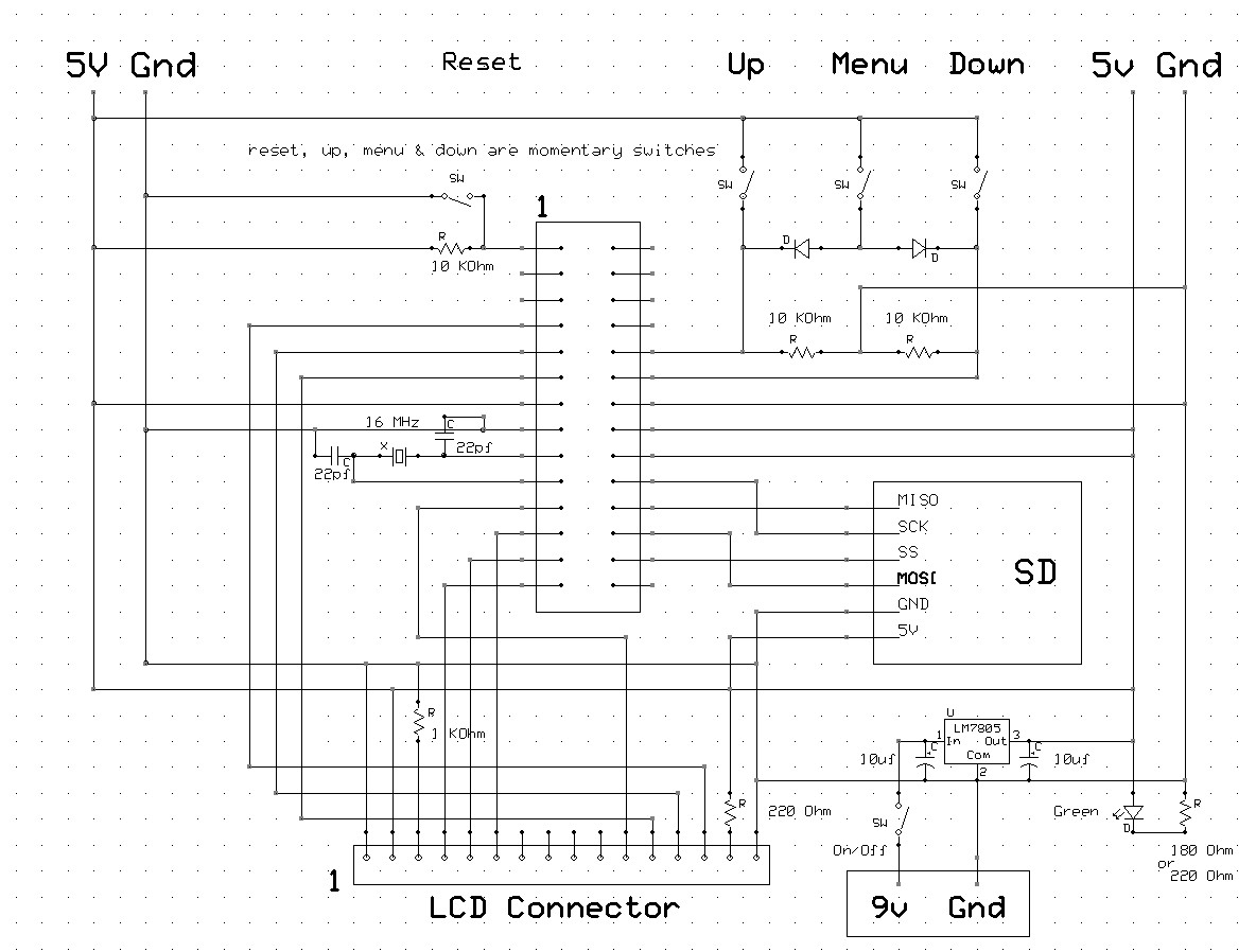 Memory Card Lcd Display Diagram Of Sd Schematic Click Here To Enlarge